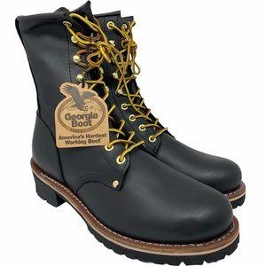 "Georgia Boot Men's Logger 8"" Black Non Steel-Toe"